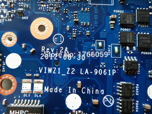 best selling Wholesale-VIWZ1_Z2 LA-9061P laptop motherboard for Lenovo Z500 Mainboard 100% Tested working perfectly