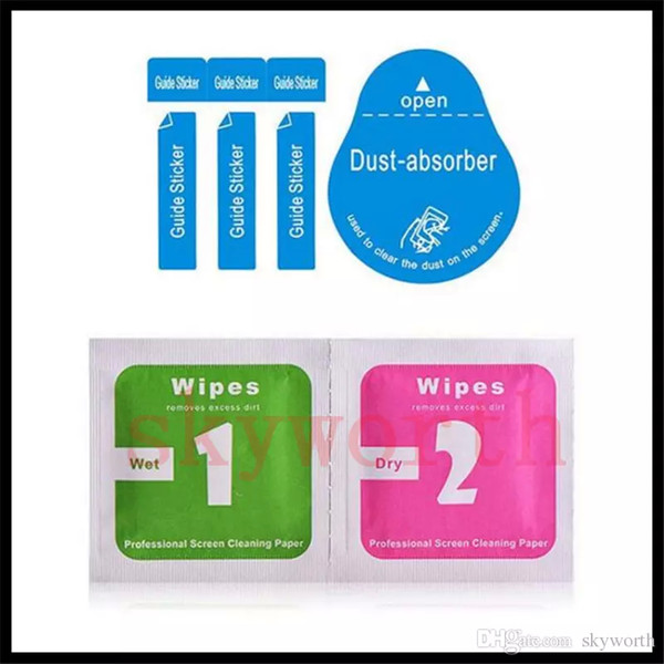 500 sets wipe + 500pcs absorbedor de polvo