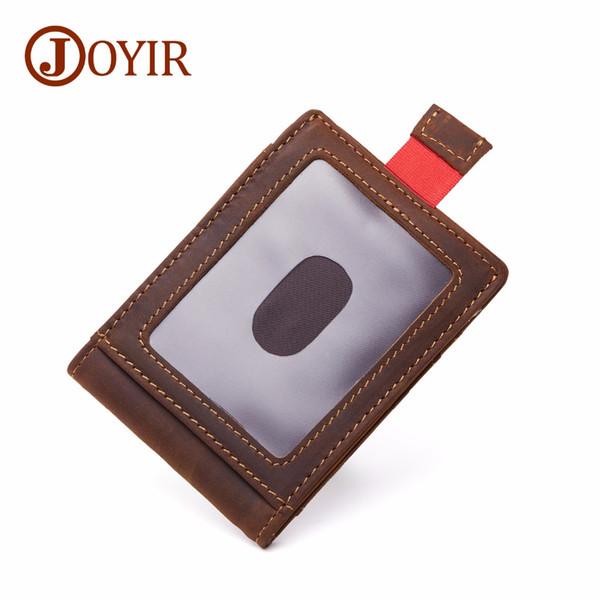 Joyir marke designer männer geld clips 100% kuh leder portfolio männer brieftaschen öffnen clamp für geldbörse karte tasche für männer