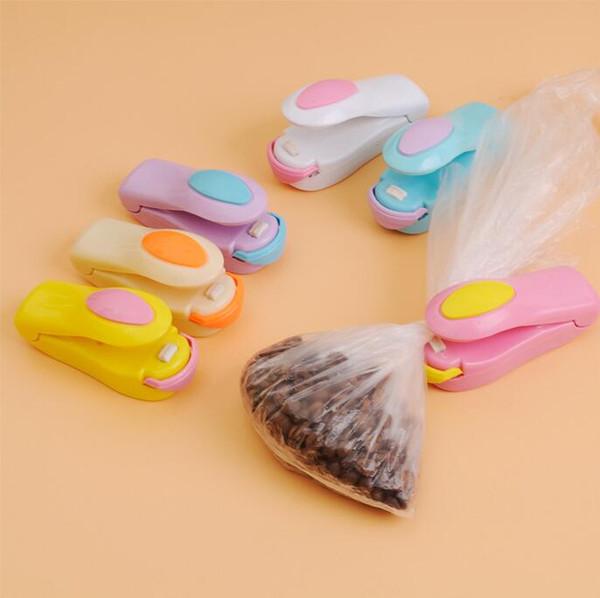 Bag Heat Sealer Mini Heat Sealing Machine Impulse Sealer Seal Packing Plastic Bag Kit for Food Saver portable travel hand pressure 1000Pcs