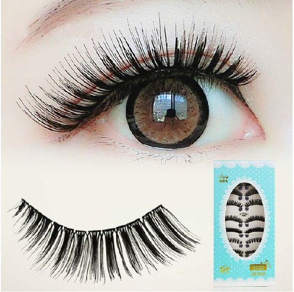 Mix Packed False eyelashes Volumising curling thick fake eyelashes upper lash extension Smoking eye daily career makeup 40Pairs eyelashes