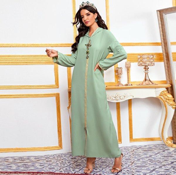 top popular Caftan Marocain Abaya Dubai Turkey Islam Kaftan Muslim Hijab Dress African Dresses For Women Robe Arabe Musulman Djellaba Femme Plus Size 2021