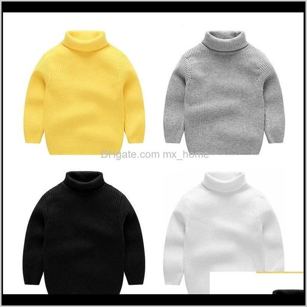 top popular Sweaters Clothing Baby Maternity Drop Delivery 2021 Boysgirls Boys Tops Knitwear Warm Pullover Turtleneck Kids Sweater Baby Girl Winter Cloth 2021