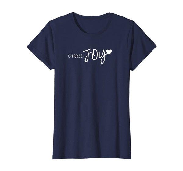Choose Joy Heart Inspirational Motivational T-Shirt
