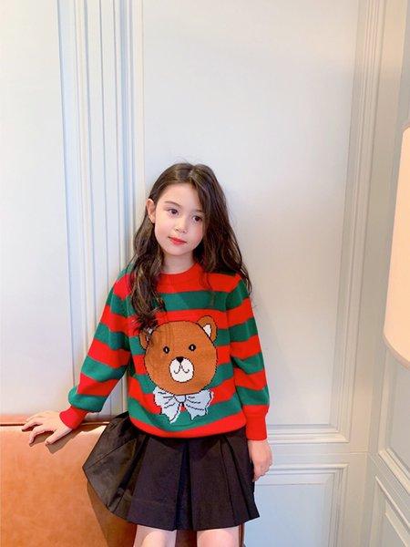 top popular Autumn spring Baby Boys Sweaters Kids Knitting Pullovers Tops toddler children Cartoon Bear Long Sleeve jumper 2021