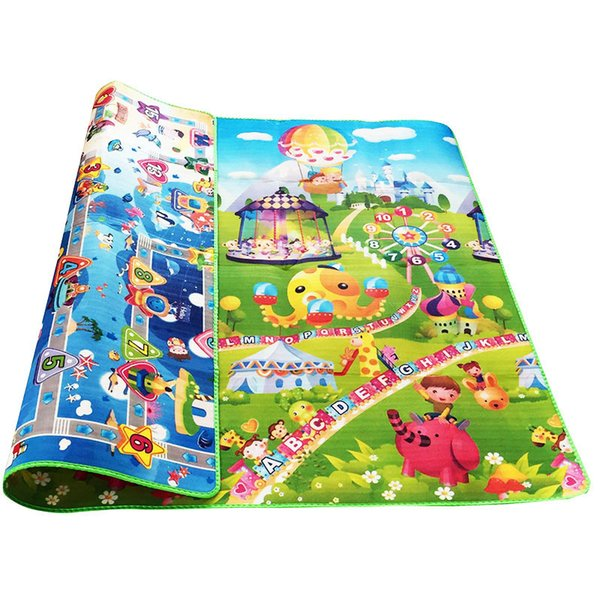 top popular Baby Crawling Puzzle Play Mat Blue Ocean Playmat EVA Foam Kids Gift Toy Children Carpet Outdoor Play Soft Floor Gym Rug 2021