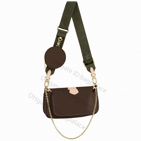 best selling 2021 Women Luxurys Designers Shoulder Bags Crossbody Clutch Leather Classic Handbags + Wallet Bag Tote Pruse Tassel Coin Purses Pochette Mini 3pcs Set Combination