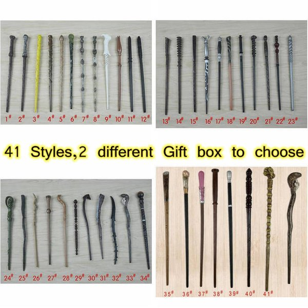 best selling 41 Styles Magic Wand PVC Resin Magical Wands Creative Cosplay Game Collection Toys CYZ3183