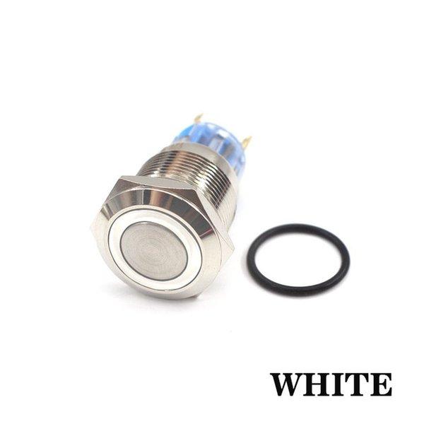 White - 6V - 12mm - Momentary Reset