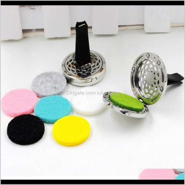 best selling 10 Style Stainless Car Vent Essential Oil Diffuser Gift 4C3Eh Wfe6U