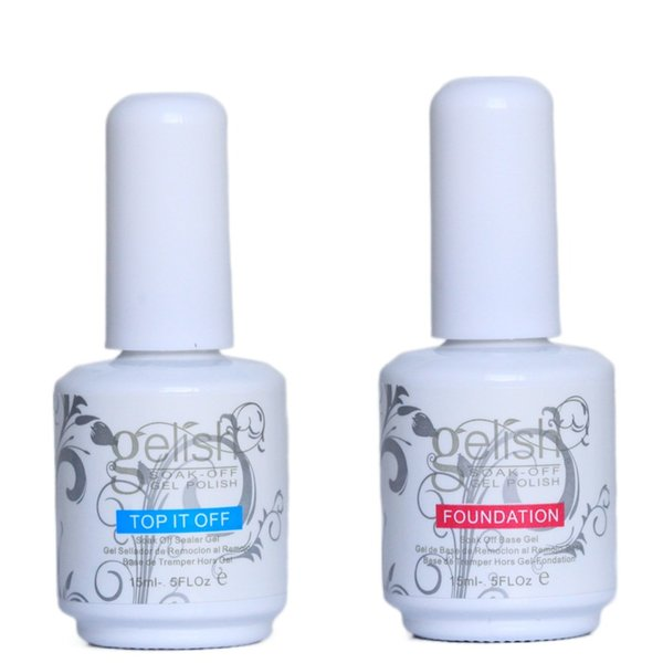 top popular Top Quality Gelish Nail Polish Soak Off Nail Gel 15ML For Art Lacquer UV LED Harmony tool Base Coat Foundation + Top it off #022 2021