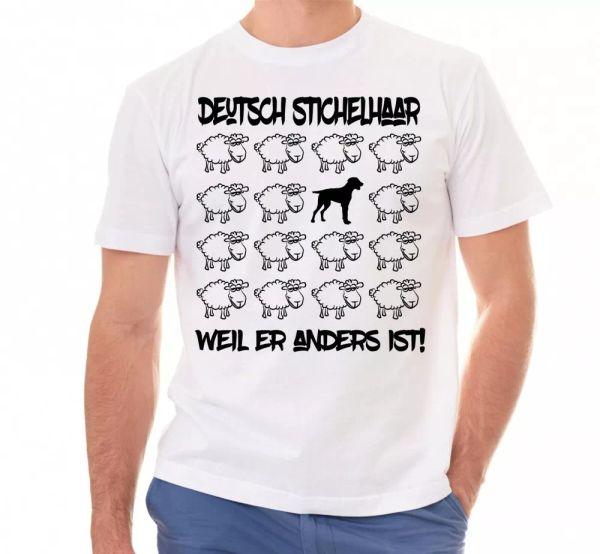 German hairs Unisex Shirt Black Sheep Men Dog Dogs Motif VORSTEHHUND
