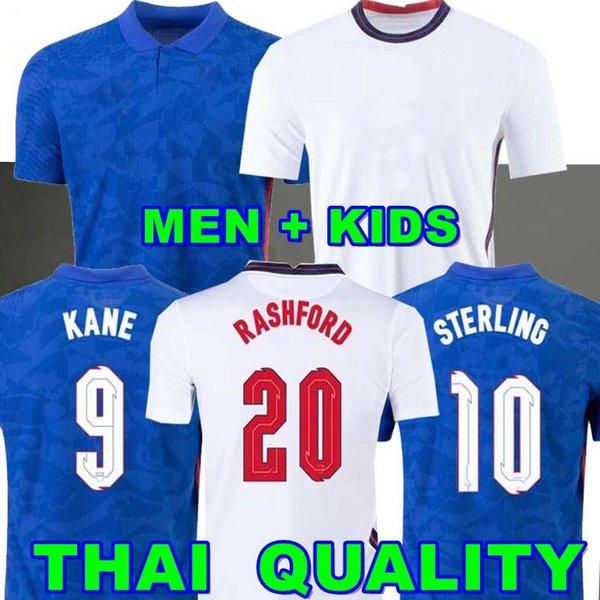 top popular ENGLAND soccer jersey 2020 2021 KANE FODEN STERLING MOUNT RASHFORD SANCHO HENDERSON BARKLEY MAGUIRE LINGARD 20 22 national football shirts men + kids kit uniforms 2021