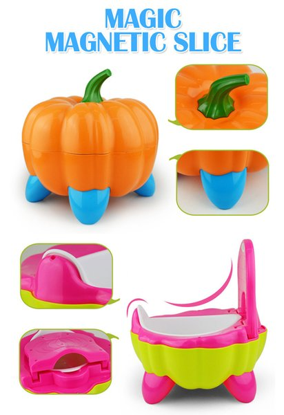 best selling Cute Pumpkin Style Designer Toilet Seat for Children with High Quality Children's Training Device 3 Colors by DHL