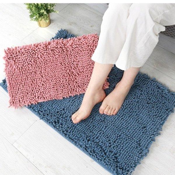 top popular Bathroom Mat Bath Carpets Chenille Water Absorption Floor Mat Non-slip Rug 88202153 2021