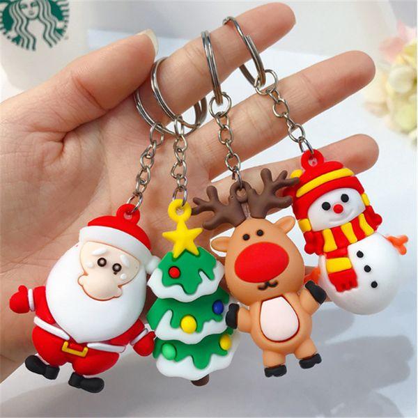 Santa Claus Keychain Merry Christmas Navidad Christmas Decoration Elk Snowman New Year Decoration 2021 Children Gift Xmas Noel