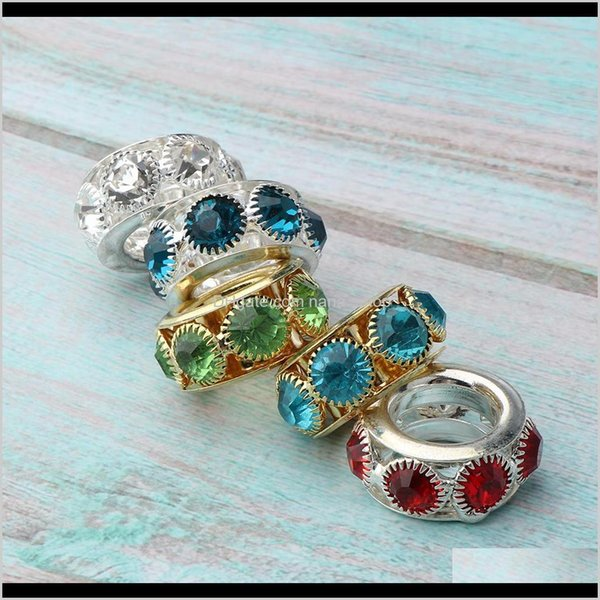 best selling Sprays Pack Of 5Pcs Antique Dreadlock Rings Cuffs Crystal Rhinestone Hair Braiding Decoration Beads Charms For Bracelet Jewelry Making Mewdx