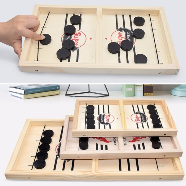 best selling Fast Sling Puck Game Paced Wooden Table Hockey Winner Games Interactive Chess Toys For Adult Children Desktop Battle Board Game