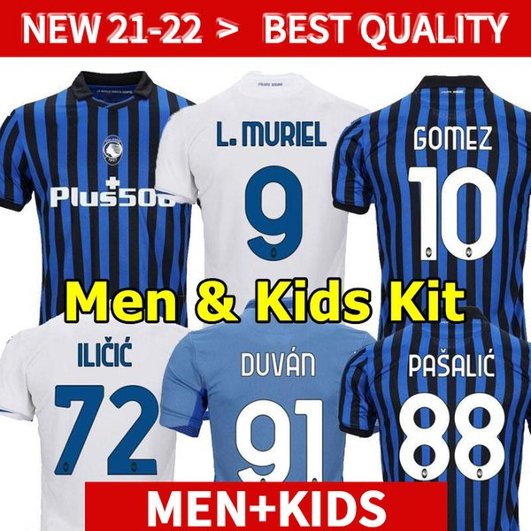 20 21 Atalanta BC Soccer Jerseys MURIEL GOMEZ 2020 2021 DUVAN GOSENS Football Shirt ILICIC PASALIC MIRANCHUK LAMMERS Men Kids Kit uniform