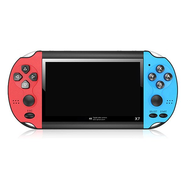 """top popular X7 4.3"""" Video Player Game Console Handheld GBA 300 Free Arcade Games Retro LCD Display Controller For Adults Children 2021"""