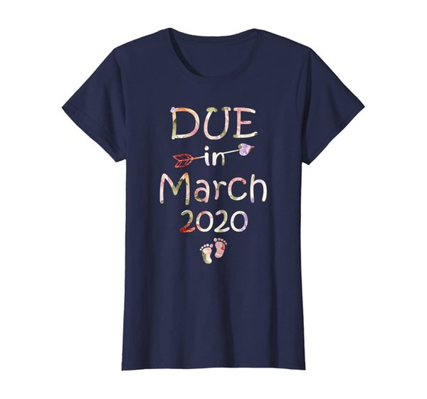 Womens Womens Pregnancy Announcement Shirt Due Date March See You i