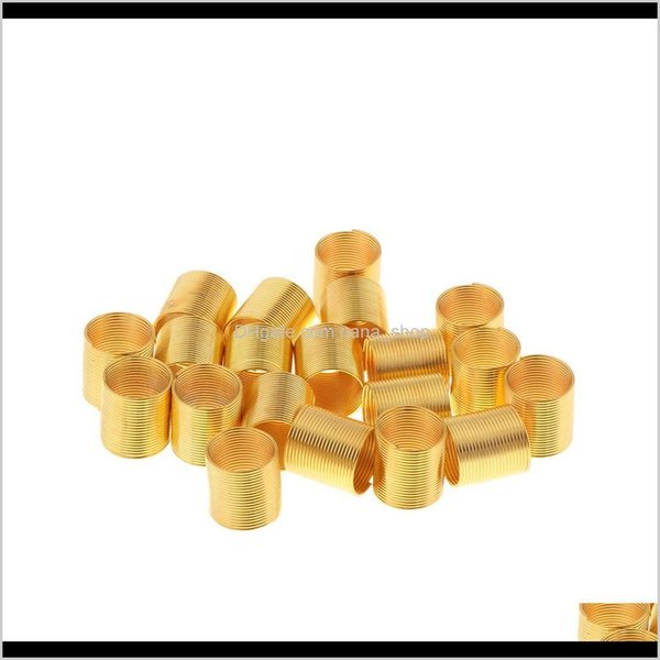 top popular Sprays Care & Styling Tools Products Drop Delivery 2021 Pack Of 20Pcs Dreadlocks Beads, Metal Cuffs Hair Braiding Decorations, Gold Color, Be 2021