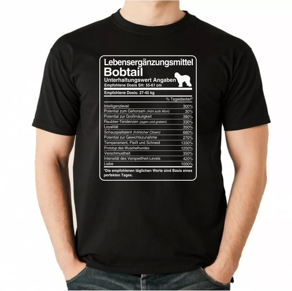 T-Shirt Unisex dose Bobtail Life Supplements Men Dog Dogs Sheepdog