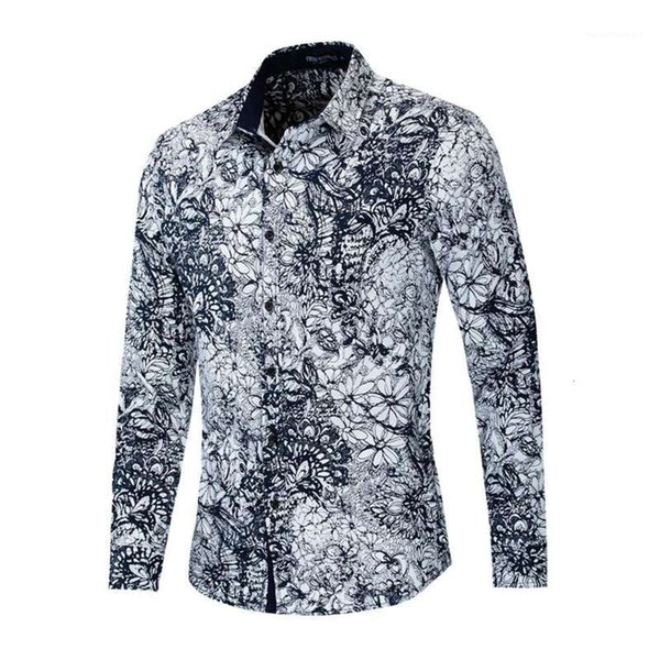 Long Sleeve Mens Shirts Casual Mens Clothing Floral Print Mens Designer Shirts Fashion Turn Down Collar Fashion Mens Clothing Women Clothing Mens Jeans Pants Hoodies Hiphop ,Women Dress ,Suits Tracksuits,Ladies Tracksuits Welcome to our Store