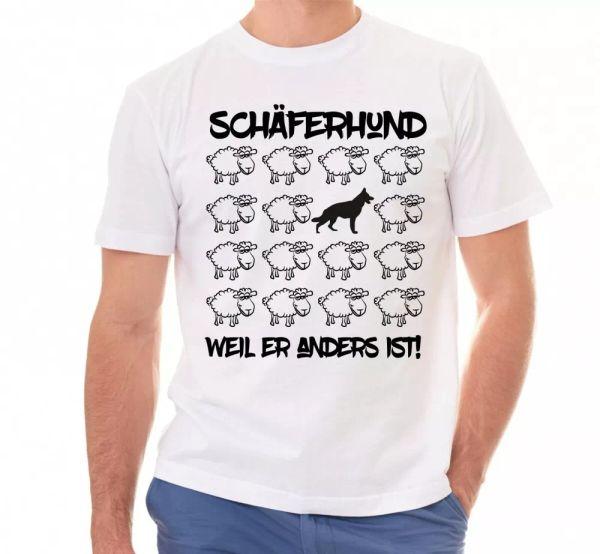 Shepherd Dog Unisex T-Shirt Black Sheep Men Dog Dog Motif German Shepherd