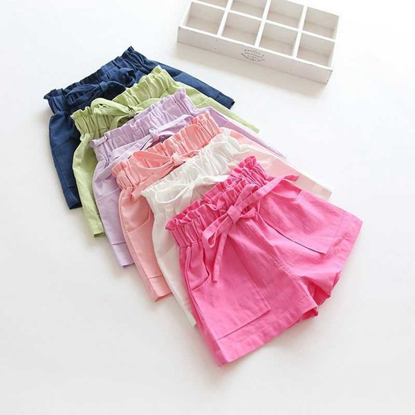 top popular Girls' Shorts 2021 New Korean Thin Sports Children's Wear Baby Summer Short Beach Pants 2021