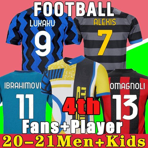 best selling 2021 2022 IBRAHIMOVIC THEO MANDZUKIC 20 21 soccer jersey AC LUKAKU LAUTARO inter maillots de football chemise enfants ensembles ERIKSEN TONALI BRAHIM