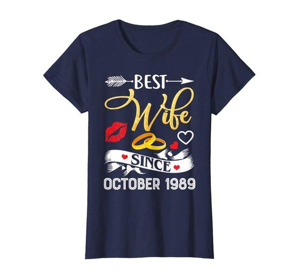 Womens 30th Wedding Anniversary Shirts Best Wife Since 1989 T-Shirt