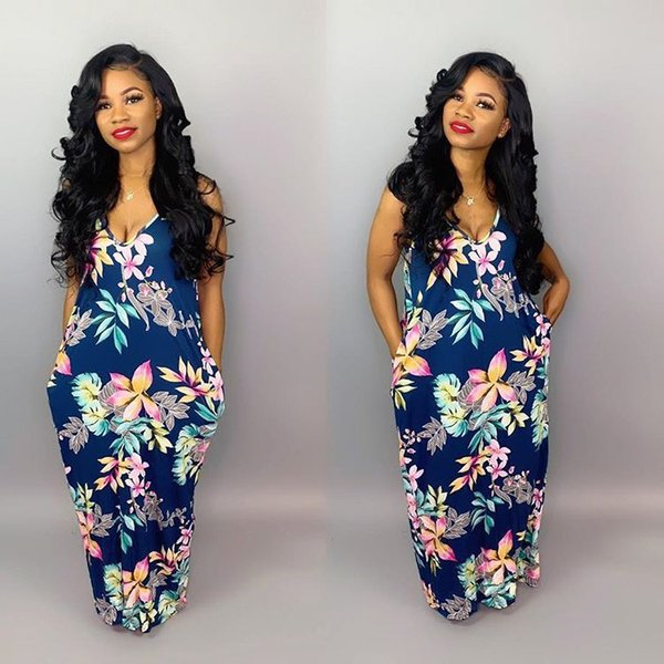 best selling 2021 Casual Printed Slip Maxi Women's striped Dress Ladies Clothes