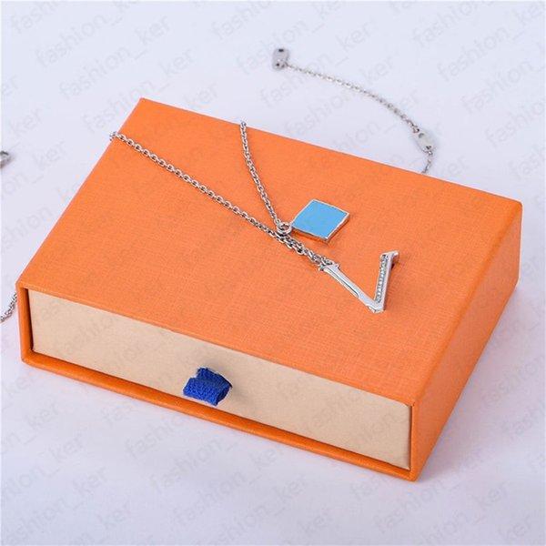 best selling Fashion Pendant Necklace Designer Necklaces Diamond Personality Design 2 Color Temperament Top Quality