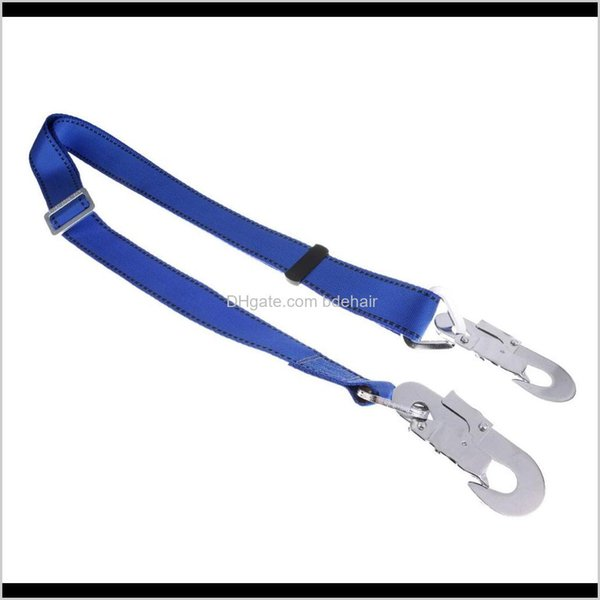 top popular Harnesses Camping Hiking Sports & Outdoors Drop Delivery 2021 Polyester Fall Protection Climbing Single Leg Adjustable Lanyard With Buckles B 2021