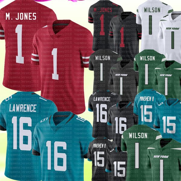 best selling 1 Mac Jones 16 Trevor Lawrence Jersey Zach Wilson Jerseys 15 Gardner Minshew II 97 Nick Bosa 85 George Kittle Jimmy Garoppolo Football