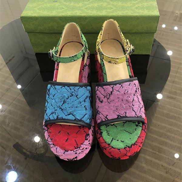 best selling Fashion designer women's latest high heel thick soled sandals luxury custom logo color matching 35-42