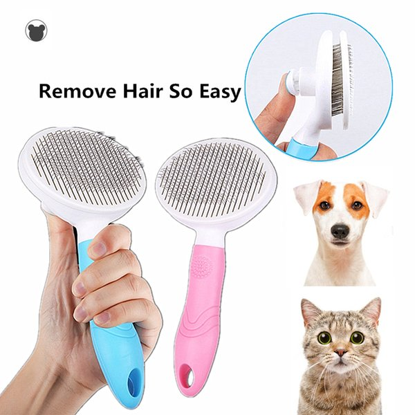 Dog Hair Removal Comb Grooming Cats Comb Pet Products Cat Flea Comb Pet for Dogs Grooming Toll Automatic Hair Brush Trimmer