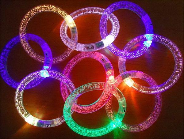 top popular Children's Toys Wholesale LED Lighted Luminous Bracelet Concert Performance Props Bubble Flash Beads And Bubbles Interactive 2021