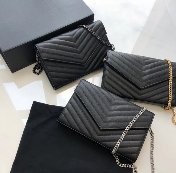 best selling Genuine Leather Women Bag High Quality Original Box Messenger Shoulder Handbag Purse Cross Body Chain Clutch Bags