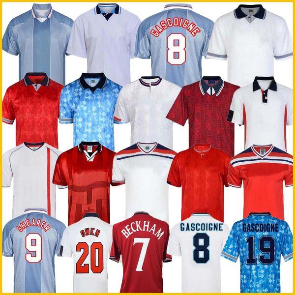 best selling England Retro Jersey 1982 1986 1998 2002 2008 Shearer Beckham Soccer Jersey 1989 1990 Gerrard Scholes Owen 1994 Heskey 1996 Gascoigne vintage classic football shirt