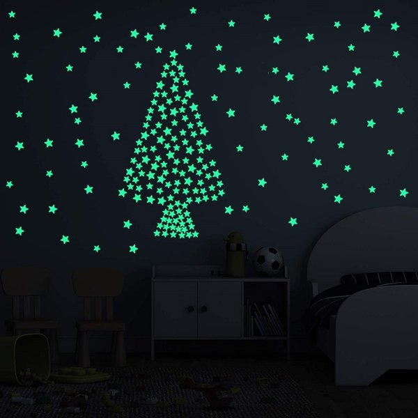 best selling 3D Stars Glow In The Dark Wall Stickers Luminous Fluorescent Ceiling Sticker For Kids Baby Room Bedroom Decals Home Decor