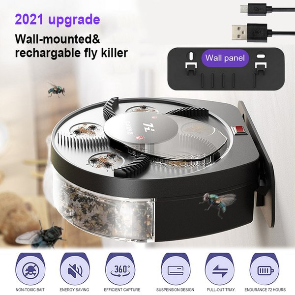 Mosquito And Fly Killer Trap USB Electric Trap Automatic Pest Catcher Fly Killer Device Insect Pest Reject Anti-Harmful Products