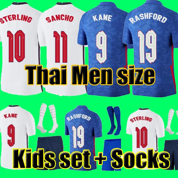 top popular Top Thailand quality thai ENGLAND football soccer jerseys 2021 KANE STERLING RASHFORD MOUNT LINGARD VARDY DELE 21 22 national shirt men + kids kit sets socks uniform 2021