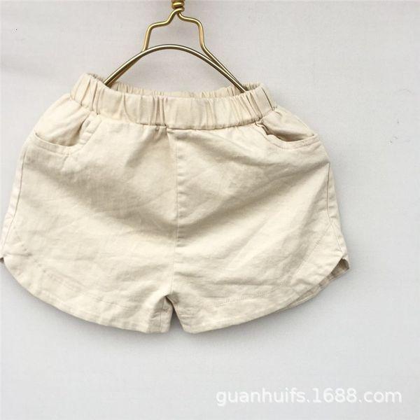 best selling Children's Beach Pants 2021 Summer Versatile Korean Children's Clothing Men's and Women's Hemp Cotton Shorts