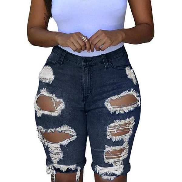 Fashion Jeans for Women Fashion High Waisted Jeans Shorts