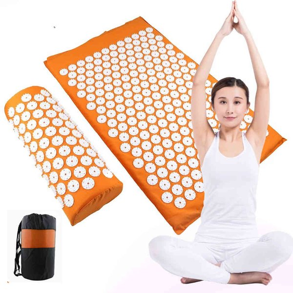 best selling Acupressure mat r Cushion Yoga Relieve Stress Back Body Pain Spike Massage Mat