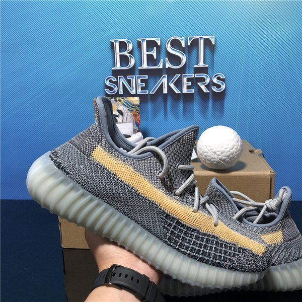 best selling Top Quality Running Shoes Men Sneakers Ash Blue Pearl Cinder Asriel Tail Light Black Static Reflective Zebra Israfil Oreo Linen Trainer Sneaker With Box