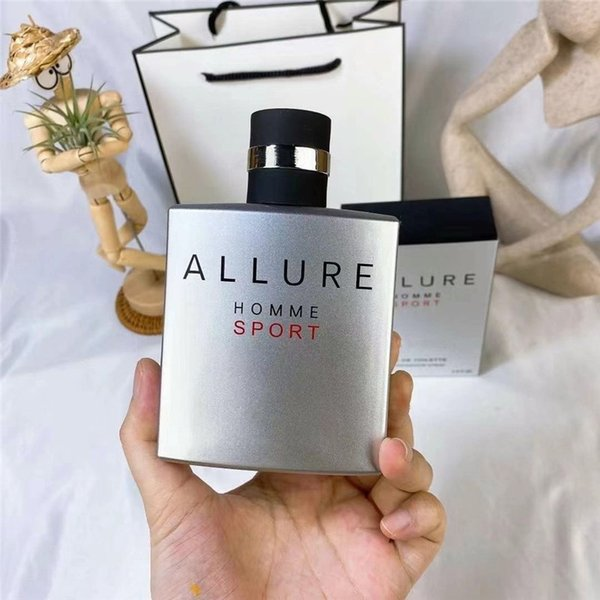 top popular In Stock Classic style men perfume 100ml nice smell ALLURE HOMME SPORT EAU DE TOILETTE Fast Delivery 2021