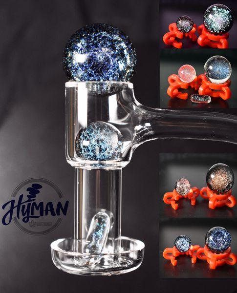 top popular Terp Slurper Quartz Banger Smoking Glass Marble Set Fully Weld Domeless Nail For Bong Water Oil Dab Rig 2021